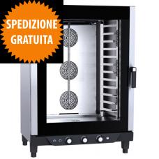 Forno a Gas Gastronomia CHEFLUX™ a Convezione-Umidità Manuale 12 Teglie GN 1/1