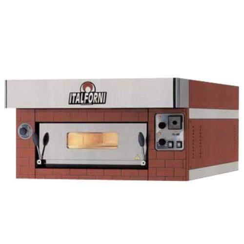 Forno pizzeria a gas componibile 1 camera con frontale - Forno per cucina componibile ...