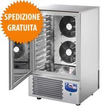 Abbattitore di Temperatura e Surgelatore Rapido Professionale Potenziato 10 Teglie GN 1-1 o cm 60x40