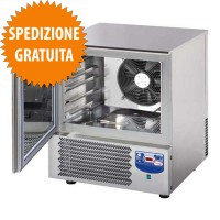 Abbattitore di Temperatura e Surgelatore Rapido Professionale 5 Teglie GN 1-1 o cm 60x40