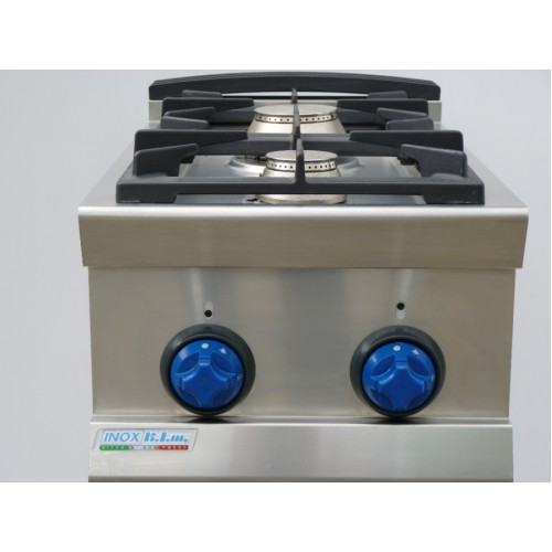 Cucina a gas 2 fuochi top da banco 9tflg2 attrezzature per la ristorazione - Cucina a gas da 90 ...