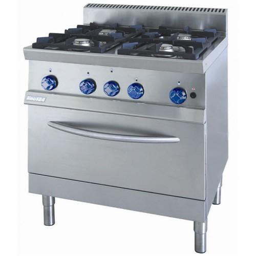 cucina a gas 4 fuochi con forno 7cflg4fg attrezzature