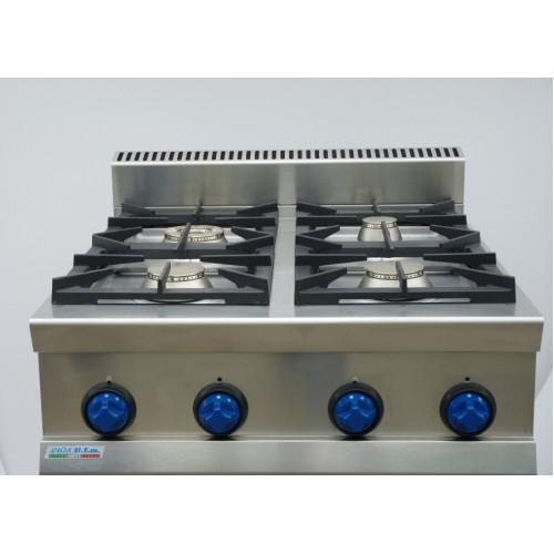 Cucina a gas 4 fuochi potenziato top da banco 9tflg4p attrezzature per la ristorazione - Cucina a gas da 90 ...