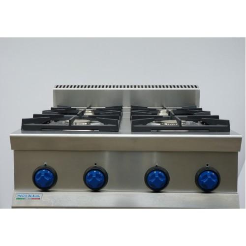 Cucina a gas 4 fuochi top da banco 7tflg4 attrezzature - Migliore cucina a gas ...