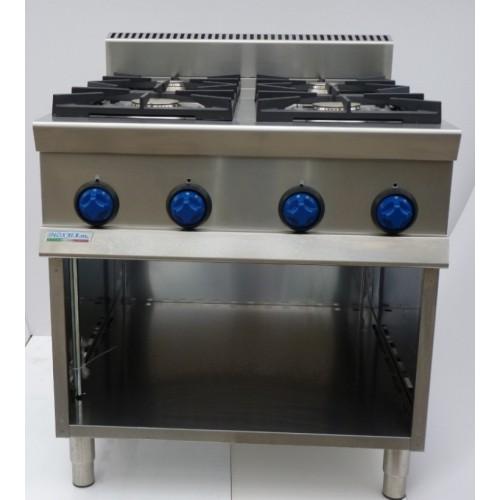 Cucina a gas 4 fuochi 9cflg4a attrezzature per la - Migliore cucina a gas ...