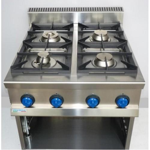 Cucina a gas 4 fuochi potenziato 9cflg4pa attrezzature - Migliore cucina a gas ...