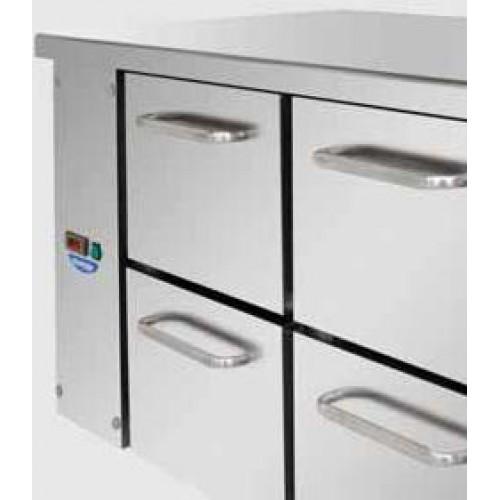 Tavolo refrigerato tn 2 sportelli tf02mid60al attrezzature per la ristorazione - Tavolo profondita 60 cm ...